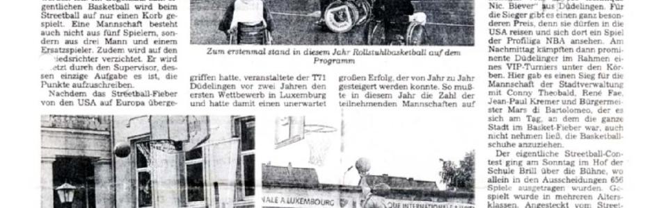 1995 06 06 Streetballcontest Düdelingen